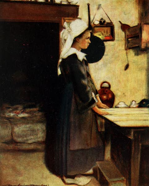 Brittany by Mortimer Menpes - The Little Housewife (1912)