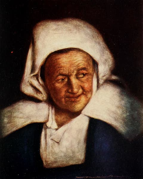 Brittany by Mortimer Menpes - An Old Woman (1912)