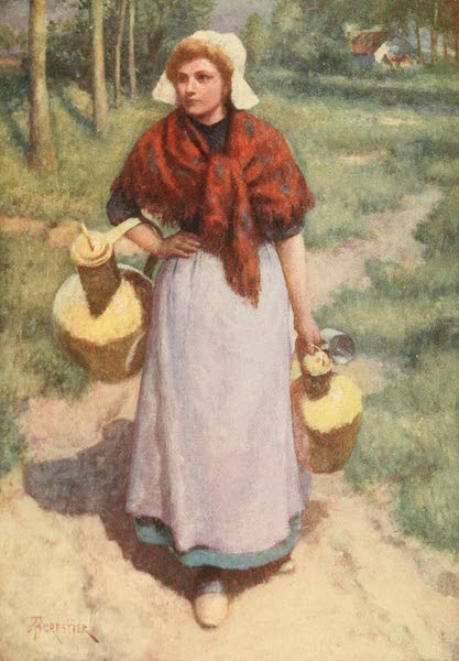 Bruges and West Flanders, Painted and Described - A Flemish Country Girl (1906)