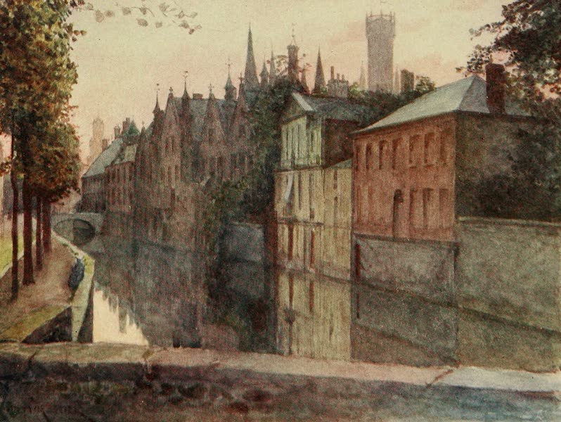 Bruges and West Flanders, Painted and Described - Bruges : View of the Palais du Franc  (1906)