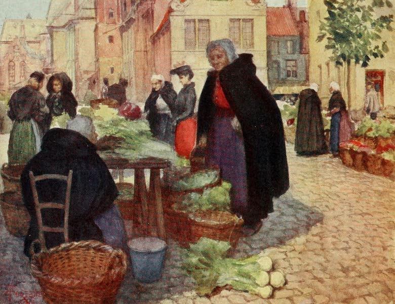Bruges and West Flanders, Painted and Described - Bruges : Vegetable Market (1906)