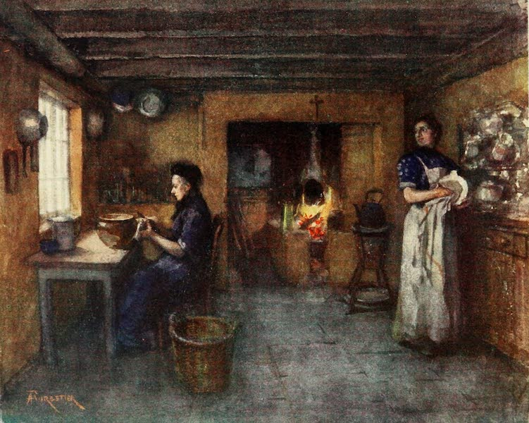 Bruges and West Flanders, Painted and Described - Duinhoek : Interior of a Farmhouse (1906)