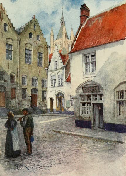 Bruges and West Flanders, Painted and Described - Ypres : Place du Musée (showing Top Part of the Belfry) (1906)