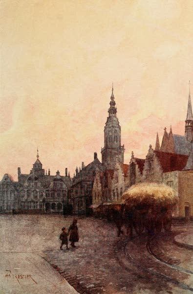 Bruges and West Flanders, Painted and Described - Furnes : Grand' Place and Belfry (1906)