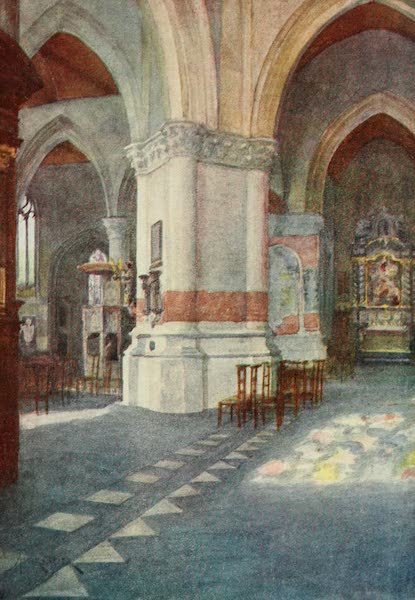 Bruges and West Flanders, Painted and Described - Nieuport : Interior of Church (1906)