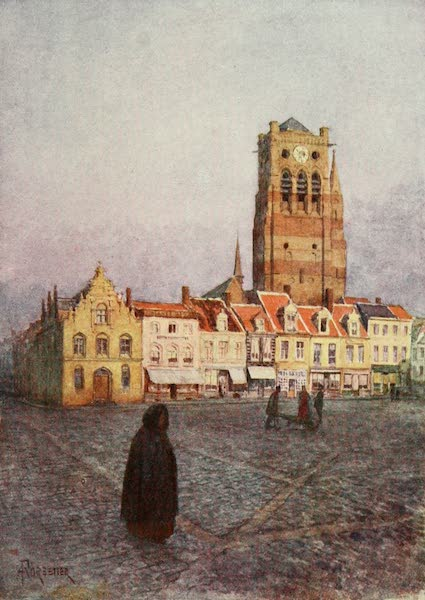 Bruges and West Flanders, Painted and Described - Furnes: Tower of St. Nicholas (1906)