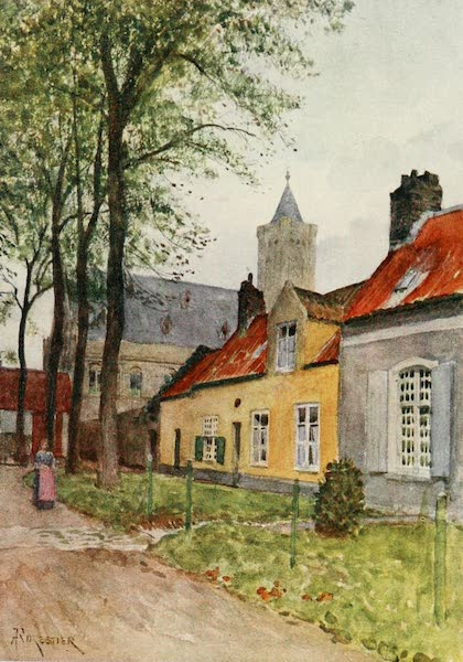 Bruges and West Flanders, Painted and Described - Nieuport : Hall and Vicarage (1906)