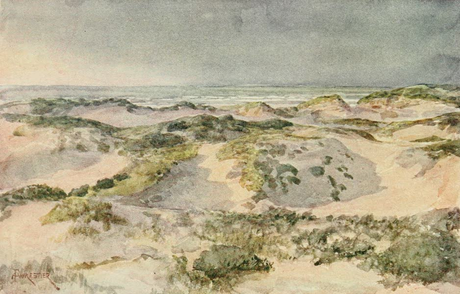 Bruges and West Flanders, Painted and Described - The Dunes : A Stormy Evening (1906)