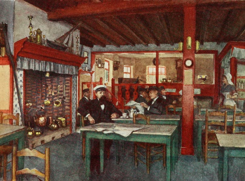 Bruges and West Flanders, Painted and Described - La Panne : Interior of a Flemish Inn (1906)