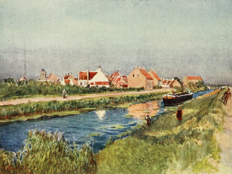 Bruges and West Flanders, Painted and Described - Adinkerque : Village and Canal (1906)