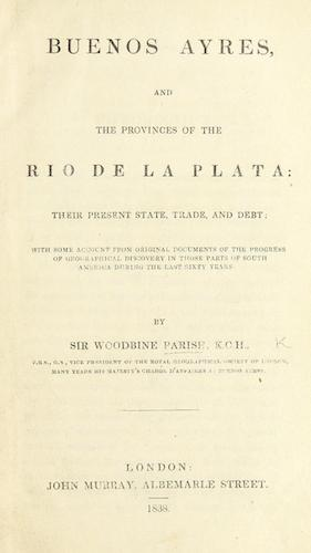 English - Buenos Ayres, and the Provinces of the Rio de la Plata