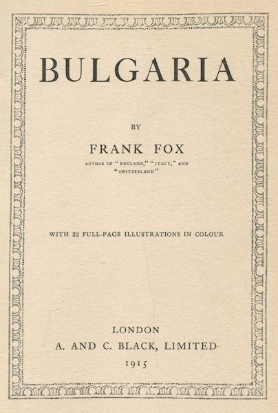 Bulgaria - Title Page (1915)