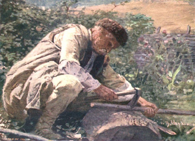Bulgaria - A Peasant at Work-District of Tsaribrod (1915)