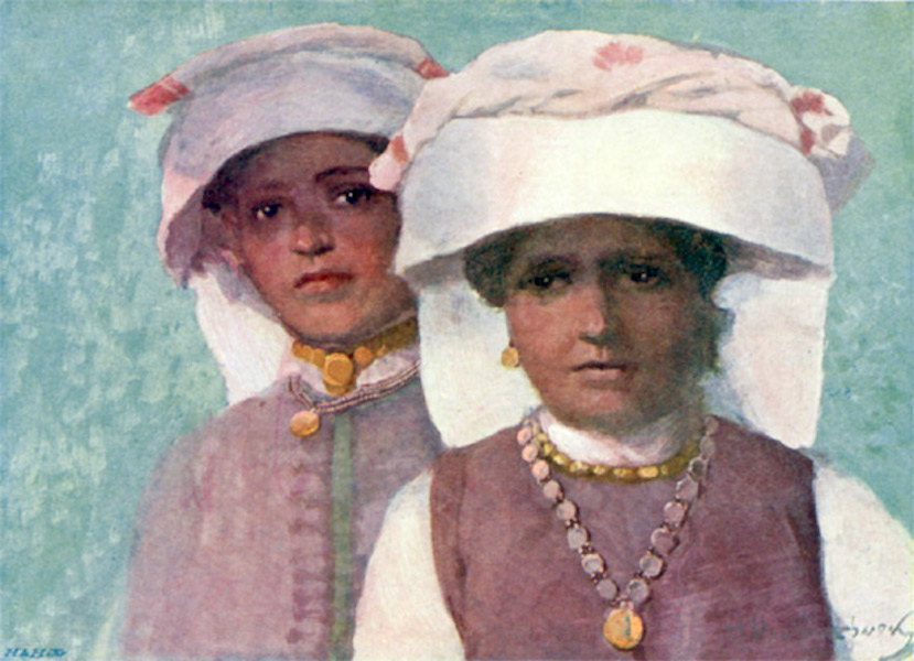Bulgaria - Women of Pordim, in the Plevna District (1915)