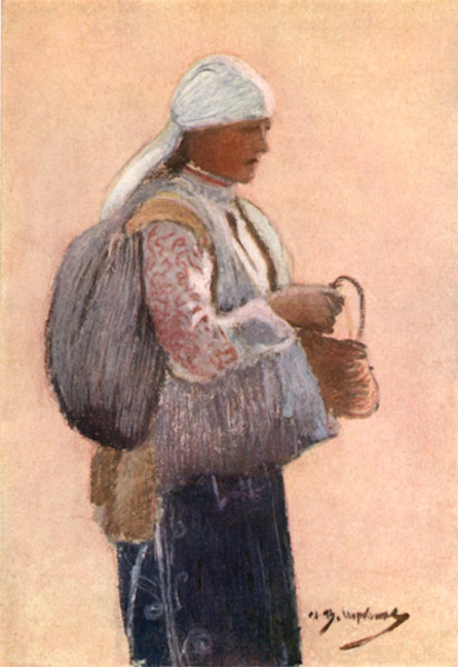 Bulgaria - A Shôp Woman of the District of Sofia (1915)