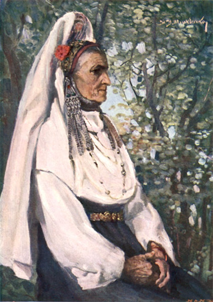 Bulgaria - Ancient Costume of Balkan Peasant Women near Gabrovo (1915)