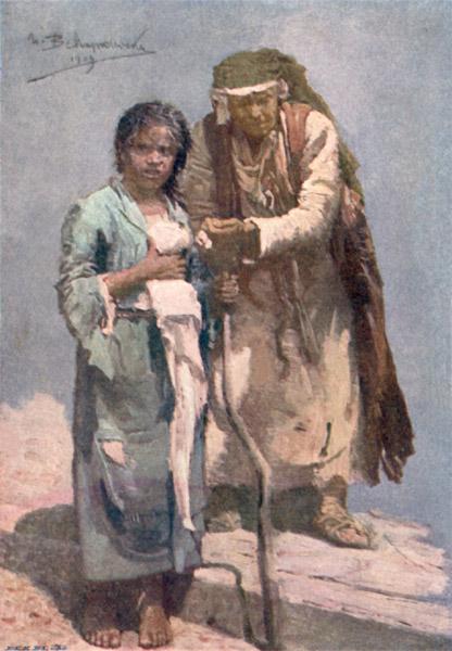 Bulgaria - A Blind Beggar Woman (1915)