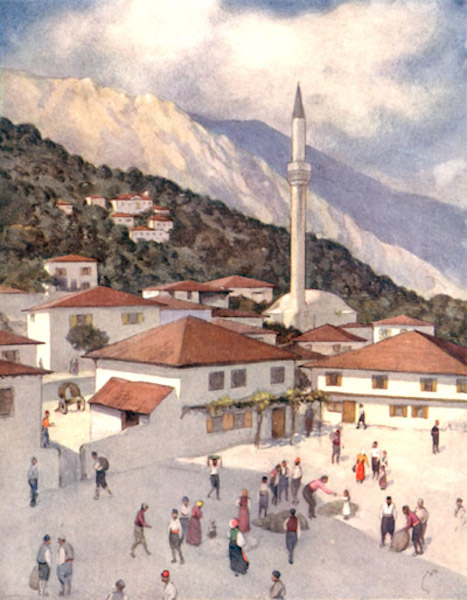 Bulgaria - A Bulgarian Market Town (1915)