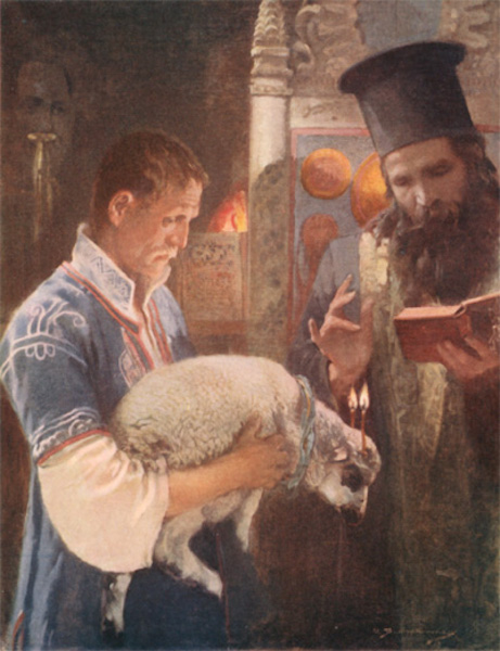 Bulgaria - Blessing the Lamb on St. George's Day (1915)