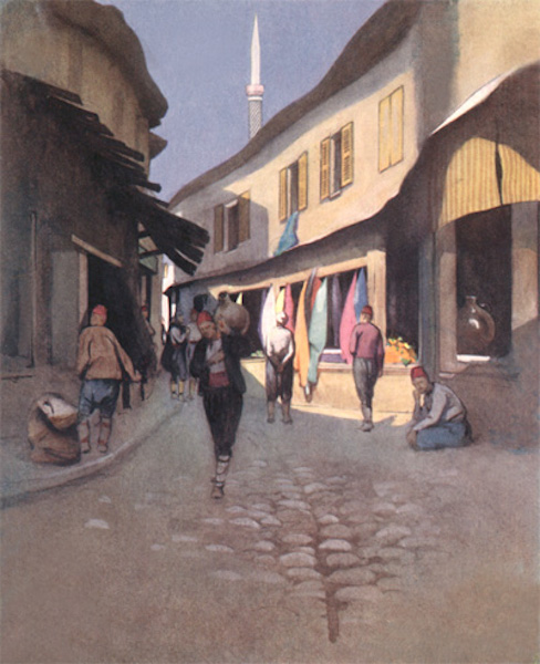 Bulgaria - An Adrianople Street (1915)