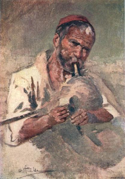 Bulgaria - A Bagpiper (1915)