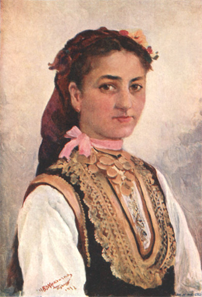 Bulgaria - A Young Girl of Irn (1915)