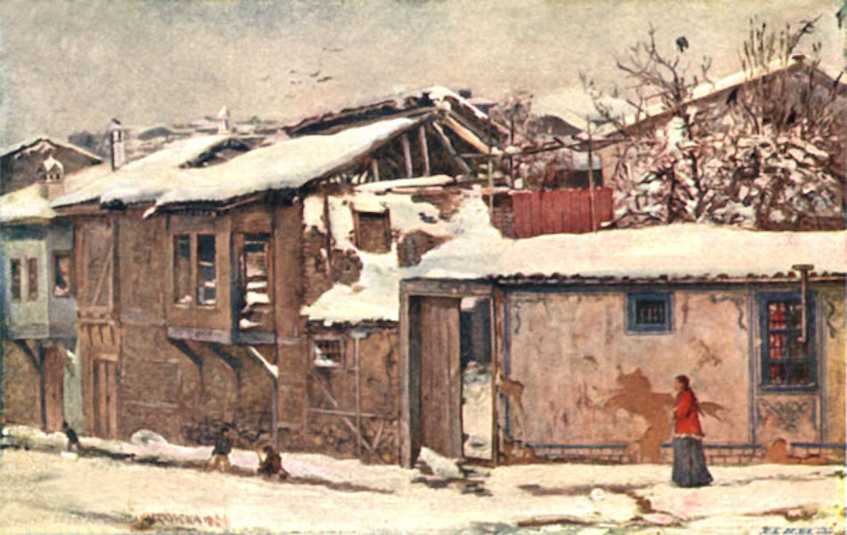 Bulgaria - An Old Street in Philippopolis (1915)