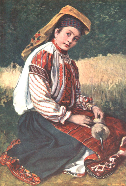 Bulgaria - A Young Woman of the Roustchouk District (1915)