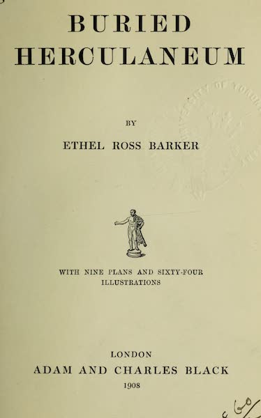 Buried Herculaneum - Title Page (1908)