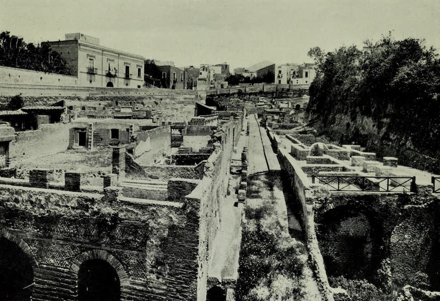 Buried Herculaneum - Open Excavations at Resina (1908)