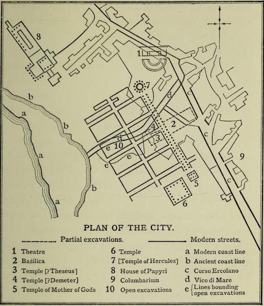 Buried Herculaneum - Plan II. The City (1908)
