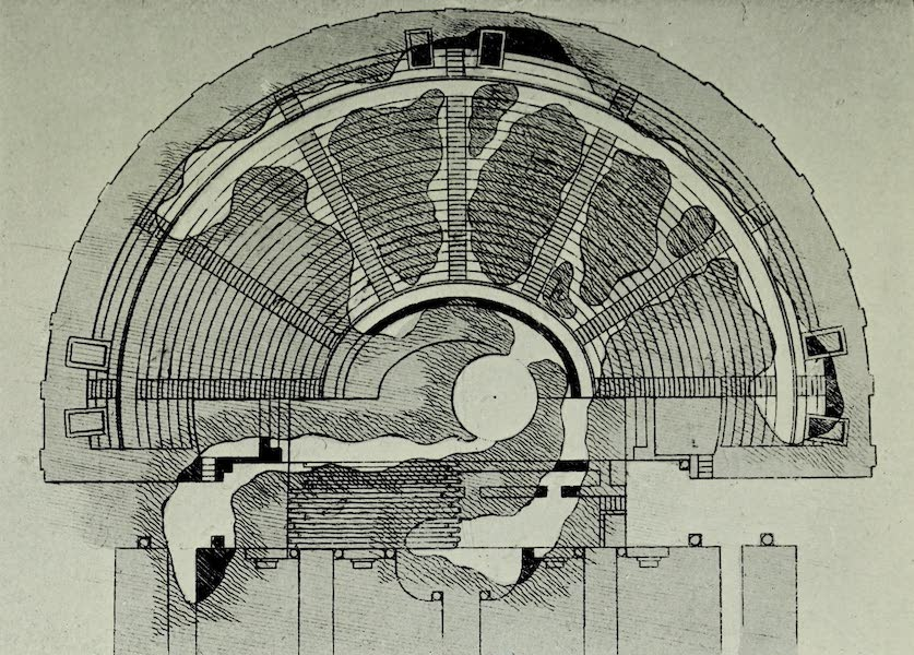 Buried Herculaneum - Plan III. The Theatre embedded in lava (1908)