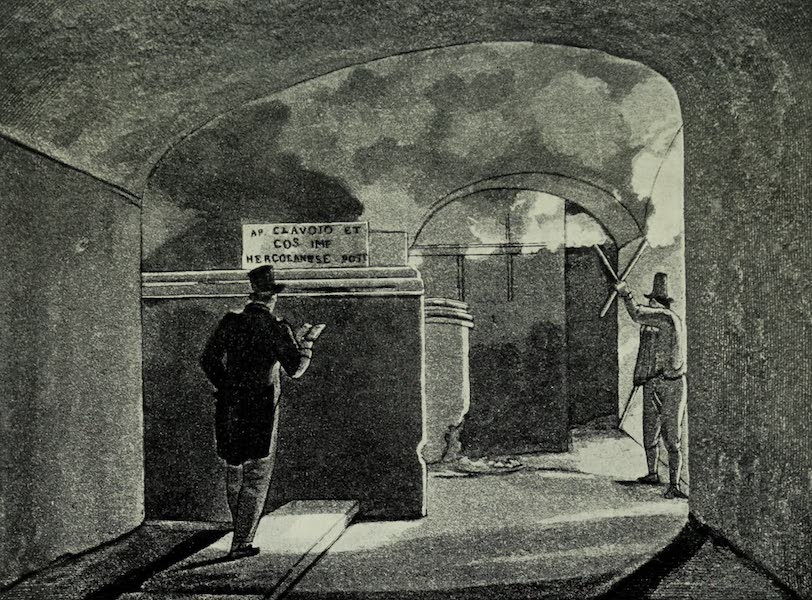 Buried Herculaneum - Part of the Stage of the Theatre (1908)