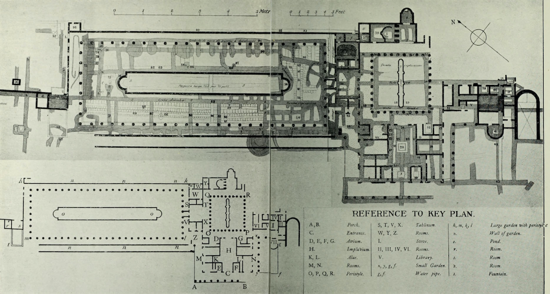 Buried Herculaneum - Plan VII. The House of the Papyri (1908)