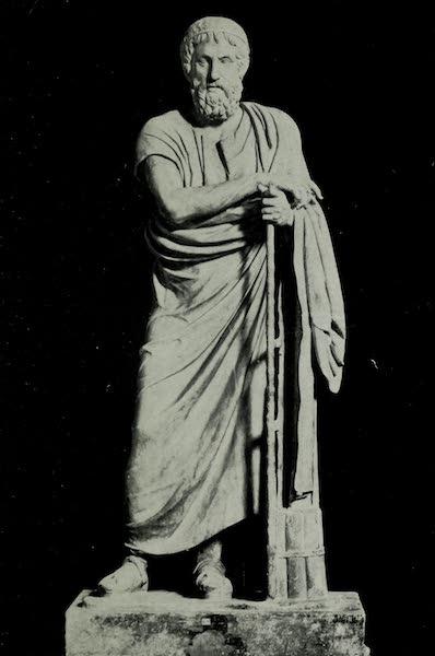 Buried Herculaneum - Homer (marble) (1908)