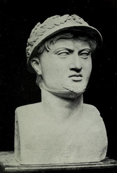 Buried Herculaneum - Head with the wreathed helmet (? Pyrrhus of Epirus : marble) (1908)