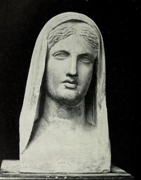 Buried Herculaneum - Head of a Vestal (woman unknown : marble) (1908)