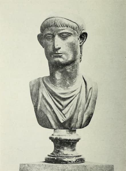 Buried Herculaneum - Head with a headdress (1908)