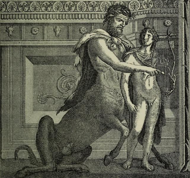 Buried Herculaneum - Chiron teaching Achilles the lyre (1908)