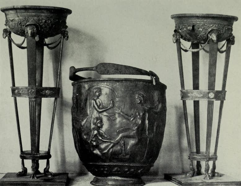 Buried Herculaneum - A Water-pot (silver) and Braziers for incense (1908)