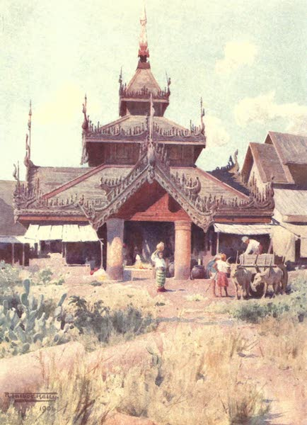 Burma, Painted and Described - Entrance to Bazaar at the Shwe Dagon (1905)