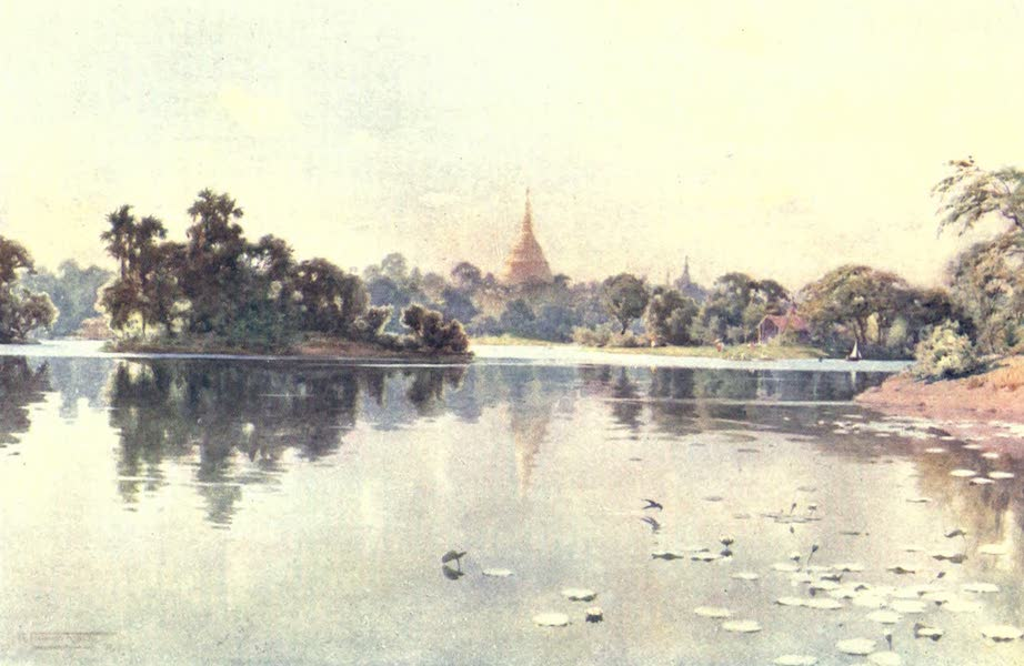 Burma, Painted and Described - The Shwe Dagon from Dalhousie Park (1905)