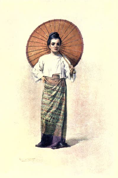 Burma, Painted and Described - Ma-Hla-Byu (Miss Pretty and Fair) (1905)