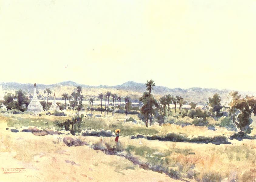 Burma, Painted and Described - The Irrawaddy Valley at Meegyoungyai (1905)