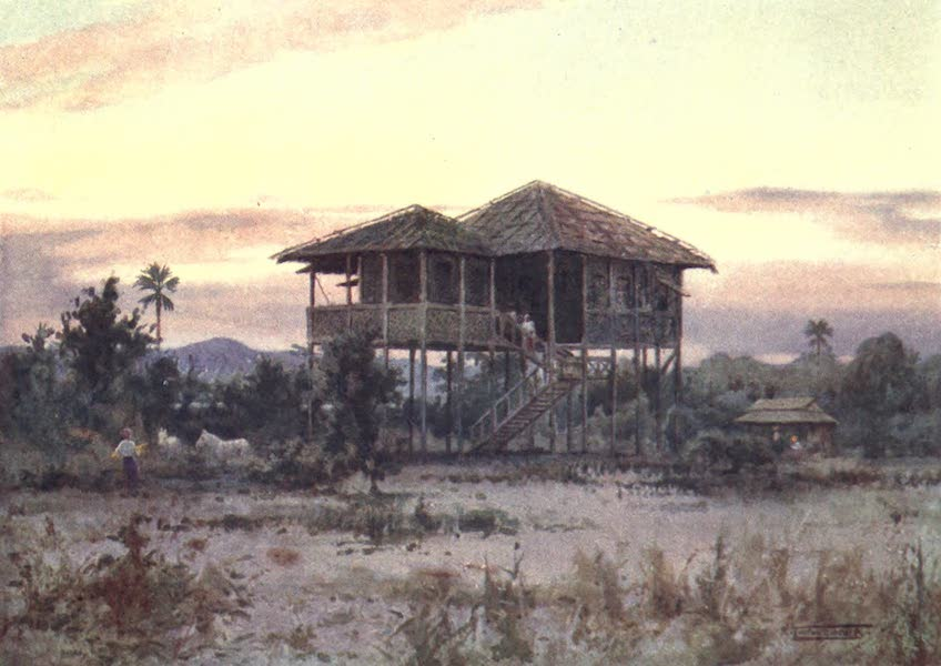 Burma, Painted and Described - A Dak Bungalow (1905)