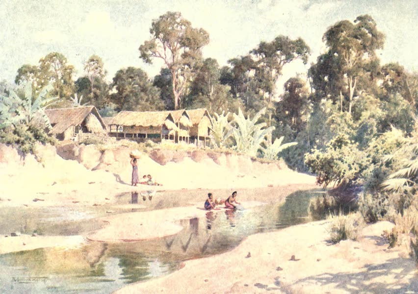Burma, Painted and Described - The Village of Min-byin (1905)