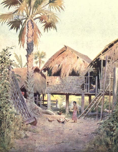 Burma, Painted and Described - Entrance to the Village of Kyet-thoung-doung (1905)