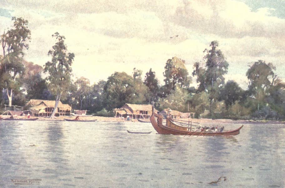 Burma, Painted and Described - On the Bassein Creek (1905)