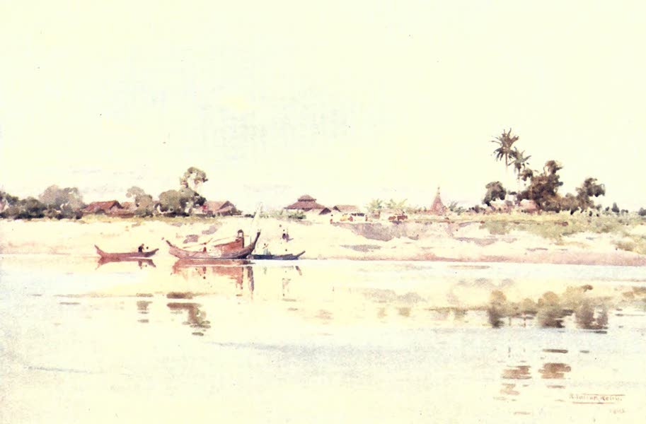 Burma, Painted and Described - On the Lower Irrawaddy (1905)