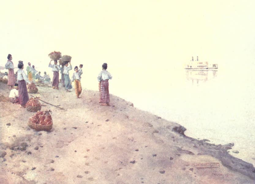 Burma, Painted and Described - Waiting for the Steamer - Early Morning (1905)